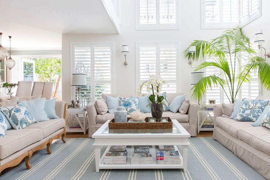 Hamptons style family room