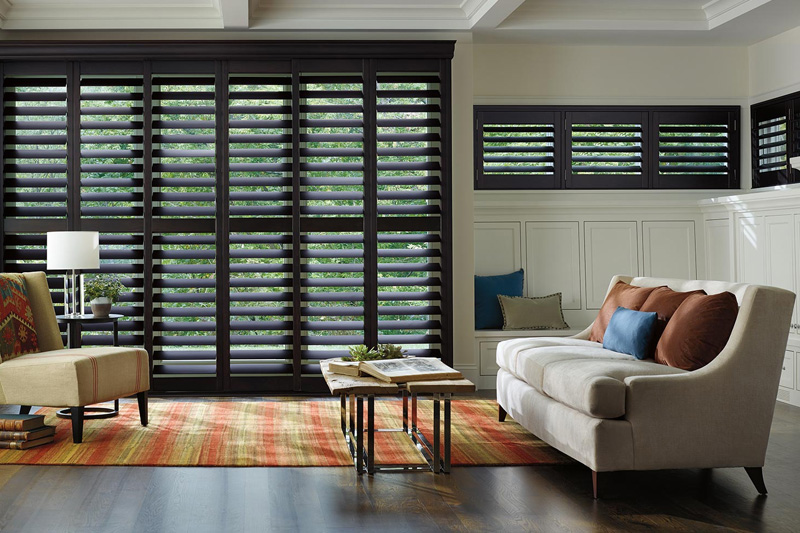 Living room with shutters